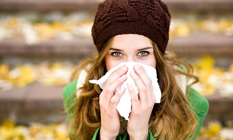 Maquillarse cuando estás resfriada